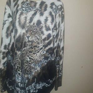 Fall/Winter Leopard Long-sleeve Blouse